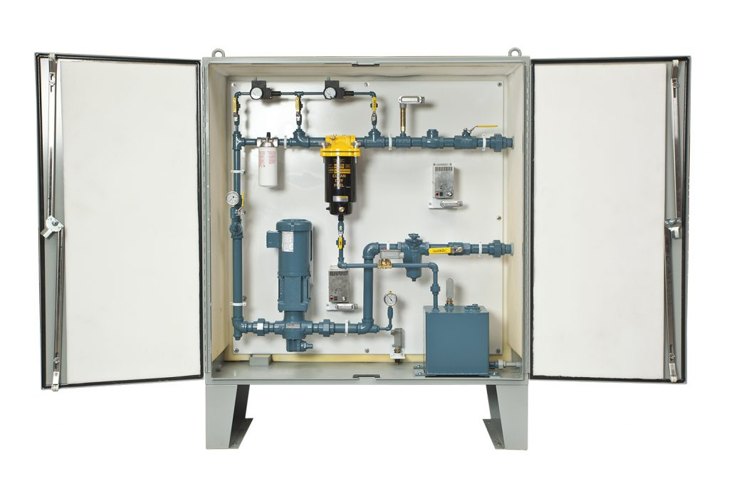 Typical Cabinet Mounted Filtration System